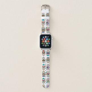 Colorful Sugar Skulls Pattern Apple Watch Band