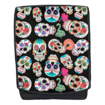 Colorful Sugar Skulls Pattern Backpack