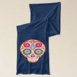 """Colorful Sugar Skulls Scarf - Day of the Dead<br><div class=""""desc"""">This Sugar Skulls Scarf features colorful psychedelic calavera sugar skulls celebrating Mexico&#39;s Day of the Dead,  or Dia de los Muertos. The funky design for this Sugar Skull Scarf is based on the artwork of Thaneeya McArdle.</div>"""