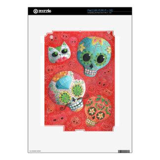 Colorful Sugar Skulls iPad 2 Decal