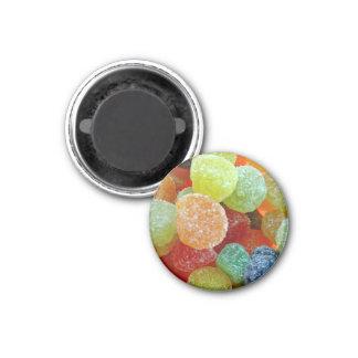 Colorful Sugared jubes in orange bowl Fridge Magnet
