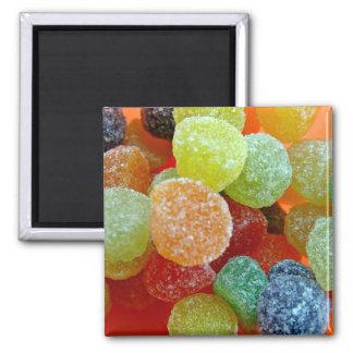 Colorful Sugared jubes in orange bowl Refrigerator Magnet