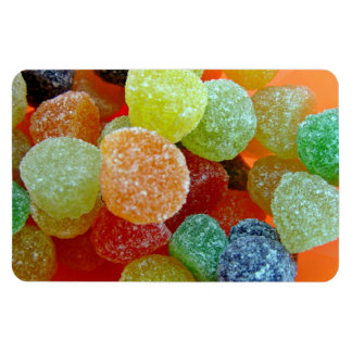 Colorful Sugared jubes in orange bowl Rectangle Magnet