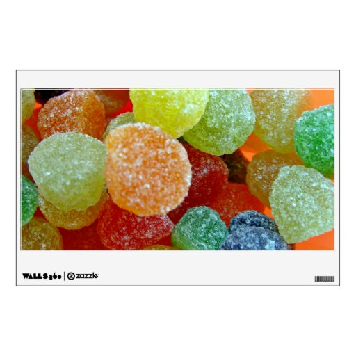 Colorful Sugared jubes in orange bowl Wall Decals