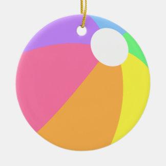 Colorful Summer Beach Ball Circle Ornament