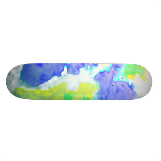 Colorful Summer Beach Board Skateboard Deck