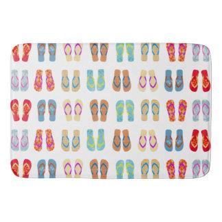 Colorful Summer Beach Flip Flops Bath Mat