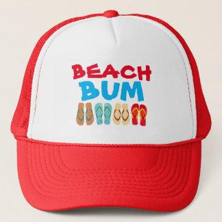Colorful  Summer Beach Flip Flops Beach Bum Hat