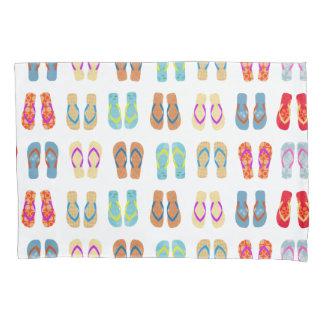 Colorful Summer Beach Flip Flops Beach Pillow Case
