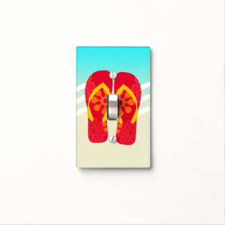 Colorful Summer Beach Flip Flops Light Switch