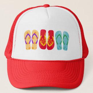 Colorful  Summer Beach Flip Flops Pattern Hat