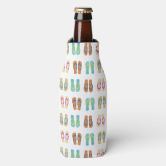 Colorful Summer Beach Party Flip Flops Bottle Cool Bottle Cooler