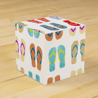 Colorful Summer Beach Party Flip Flops Favor Boxes