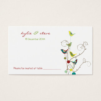 Colorful Summer Bird & Swirls Place / Table Card