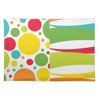 Colorful Summer Dots and Splash Placemat