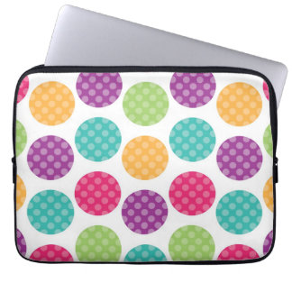 Colorful Summer Dots Pattern Laptop Sleeves