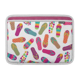 Colorful Summer Flip Flop Sandals Pattern Sleeves For MacBook Air