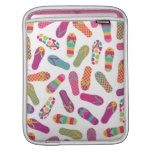 Colorful Summer Flip Flop Sandals Pattern Sleeve For iPads