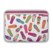 Colorful Summer Flip Flop Sandals Pattern MacBook Air Sleeve