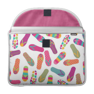 Colorful Summer Flip Flop Sandals Pattern MacBook Pro Sleeve