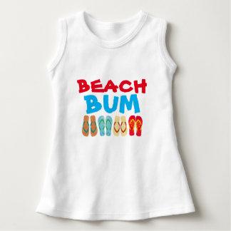 Colorful Summer Flip Flops Beach Bum Baby Dress