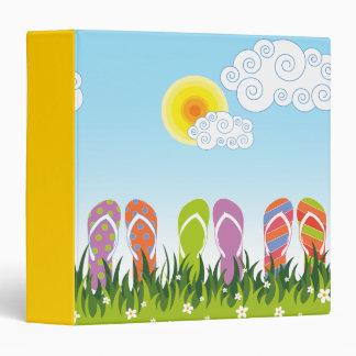 Colorful Summer Flip Flops Fun In The Sun Garden 3 Ring Binder