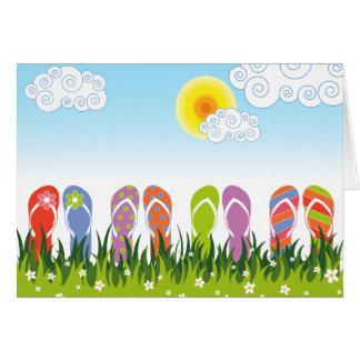 Colorful Summer Flip Flops Fun In The Sun Garden Card
