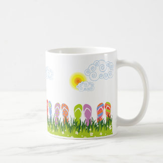 Colorful Summer Flip Flops Fun In The Sun Garden Coffee Mug