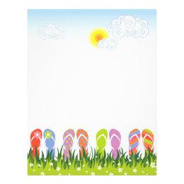 Colorful Summer Flip Flops Fun In The Sun Garden Flyer