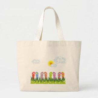 Colorful Summer Flip Flops Fun In The Sun Garden Jumbo Tote Bag