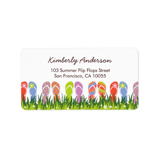 Colorful Summer Flip Flops Fun In The Sun Garden Label