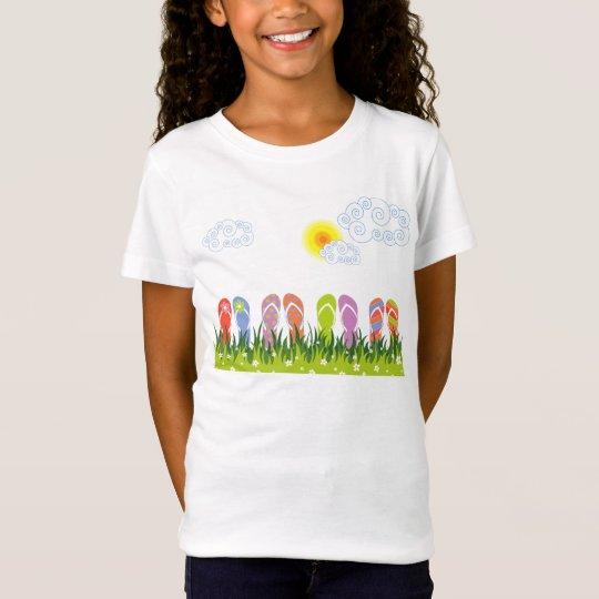 Colorful Summer Flip Flops Fun In The Sun Garden T-Shirt