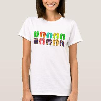 Colorful Summer Flip Flops T-Shirt