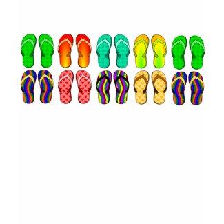 Colorful Summer Flip Flops zazzle_shirt