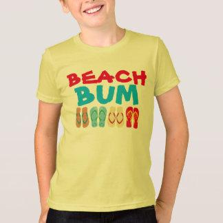Colorful Summer Flip Flops Yellow Beach Bum T T-Shirt