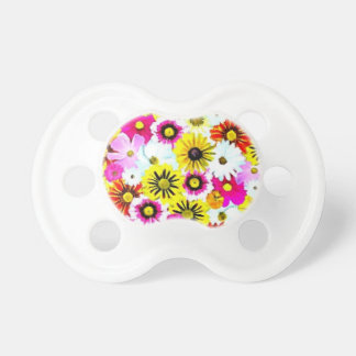 Colorful Summer Floral Collage Baby Pacifier