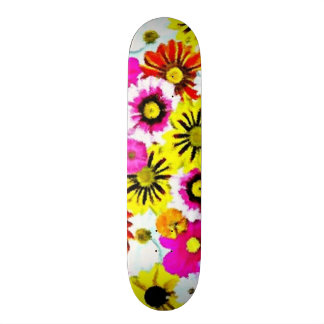 Colorful Summer Floral Collage Custom Skate Board