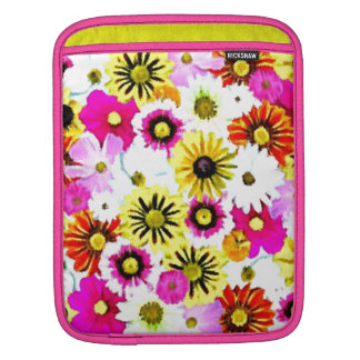 Colorful Summer Floral Collage Sleeve For iPads