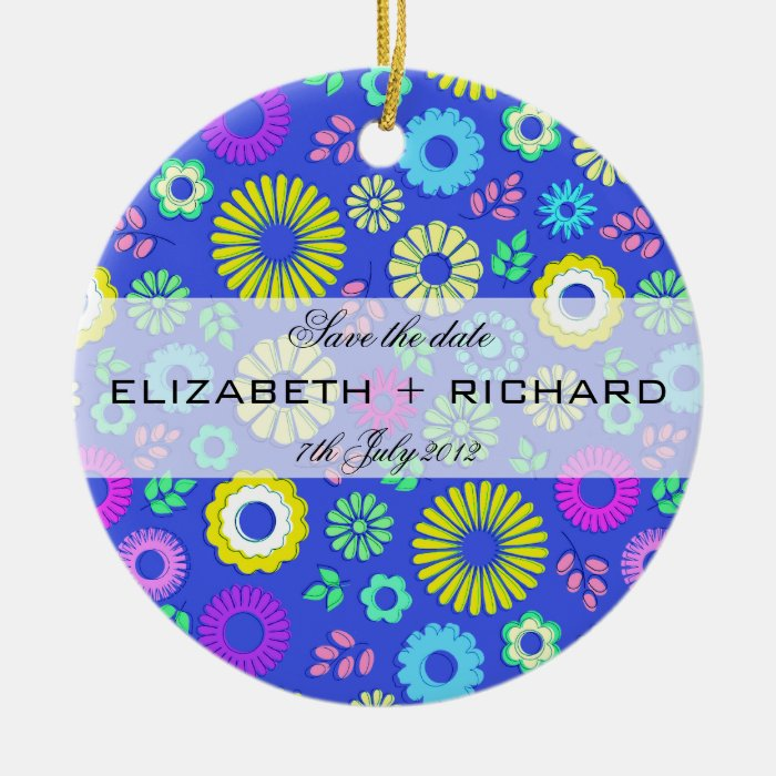 Colorful summer floral Ornament