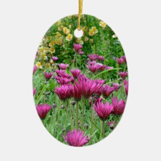 Colorful summer flower garden ceramic ornament