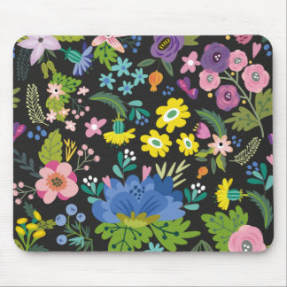 Colorful Summer Flower Pattern Mouse Pad