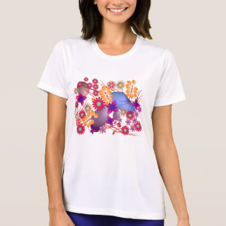 Colorful Summer Flowers and Stones Tshirts