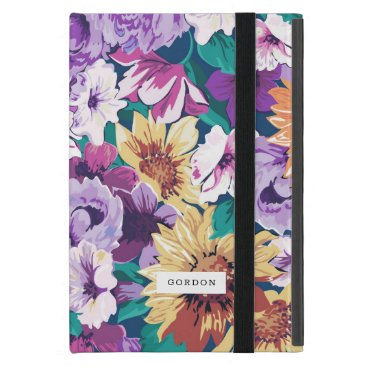 Colorful summer flowers pattern case for iPad mini