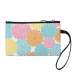 Colorful Summer Flowers Pattern Coin Wallets