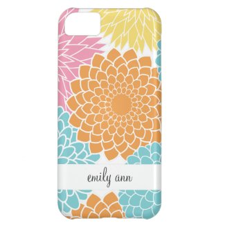 Colorful Summer Flowers Pattern iPhone 5C Case