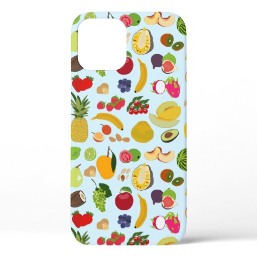 Colorful Summer Fruit Pattern iPhone 12 Case