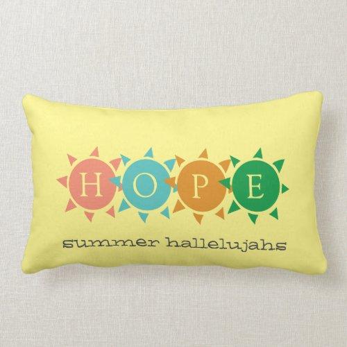 Colorful Summer Fun Sun CUSTOMIZABLE Hope Lumbar Pillow
