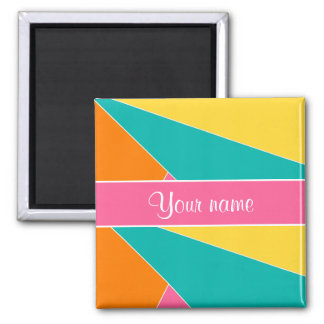 Colorful Summer Geometric Pattern Magnet