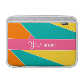 Colorful Summer Geometric Pattern Sleeve For MacBook Air