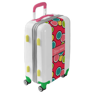 Colorful Summer Polka Dots Personalized Luggage